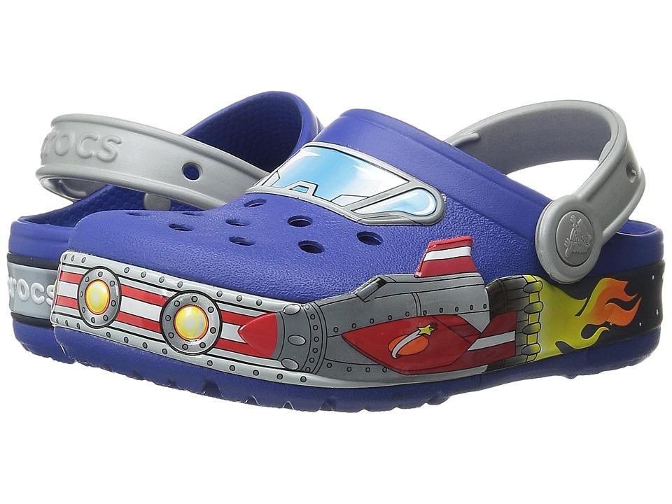 Crocs Kids - CrocsLights Galactic Clog (Toddler/Little Kid) (Cerulean Blue) Boys Shoes