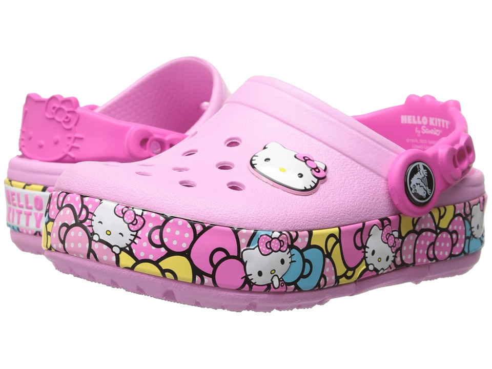 Crocs Kids - CrocsLights HK Ribbon Clog (Toddler/Little Kid) (Carnation) Girls Shoes