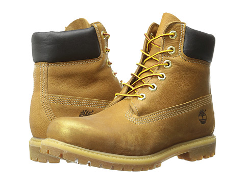 Timberland - Icon 6 Premium Boot (Wheat Rugged/Gold Metallic Finish) Women