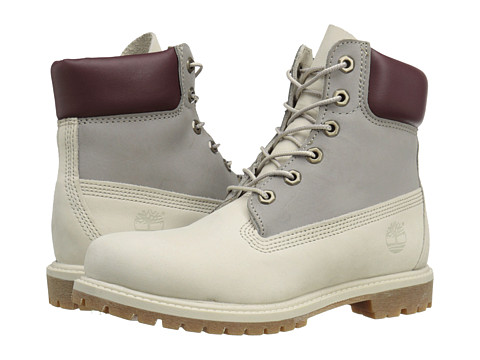 Timberland - Icon 6 Premium Boot (Light Grey Nubuck Tri Color) Women