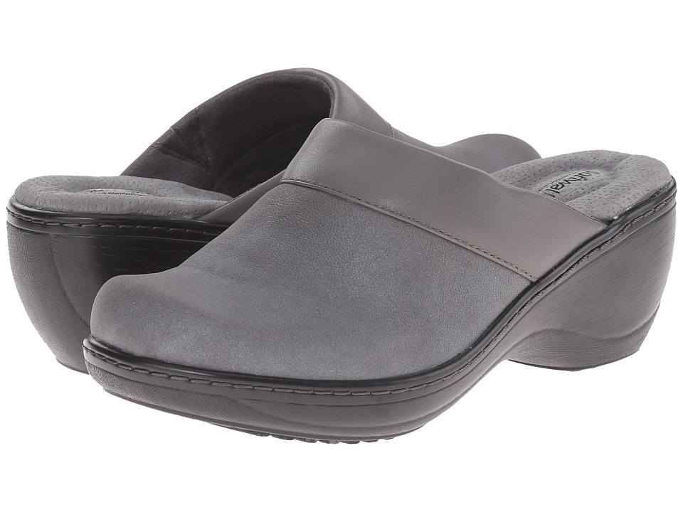 SoftWalk - Murietta (Graphite/Dark Graphite Distressed Nubuck Leather) Women's Clog Shoes