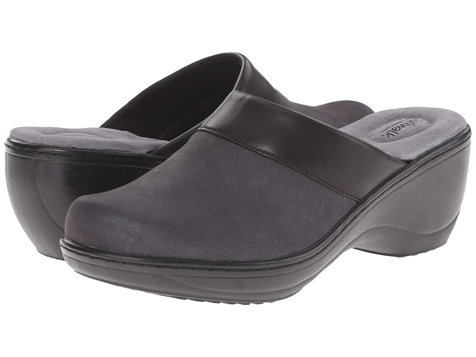 SoftWalk - Murietta (Black Distressed Nubuck Leather) Women's Clog Shoes