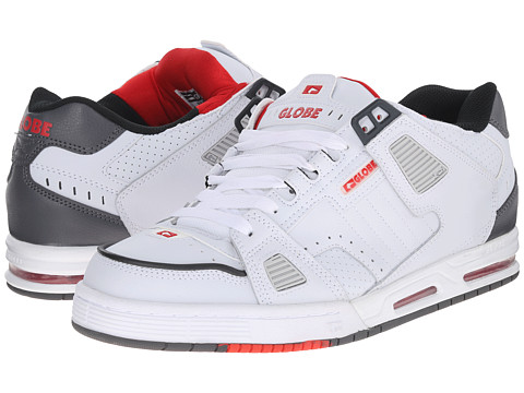 Globe - Sabre (White/Grey/Red) Men's Skate Shoes