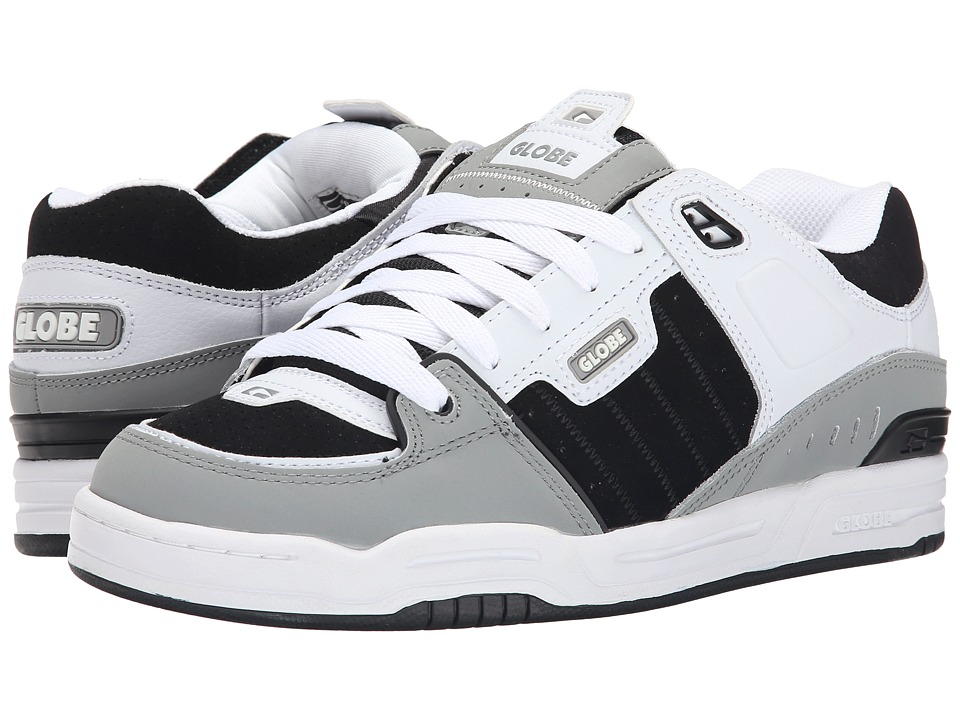 Globe - Fusion (Grey/White/Black) Men's Skate Shoes