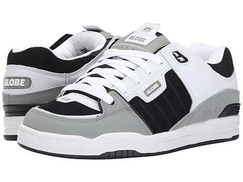 Globe - Fusion (Grey/White/Black) Men's Skate Shoes