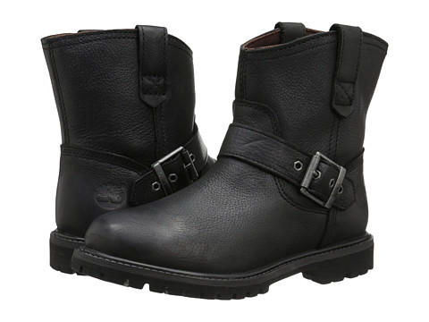 Timberland - 6 Premium Pull-On Waterproof Boot (Black Rugged) Women's Boots