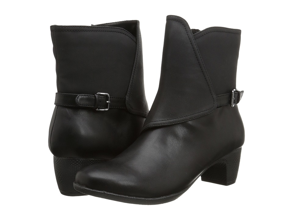 SoftWalk - Puddles (Black Smooth Man Made Leather) Women's Boots