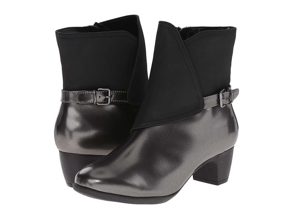 SoftWalk - Puddles (Graphite/Black Box Leather Man Made) Women's Boots
