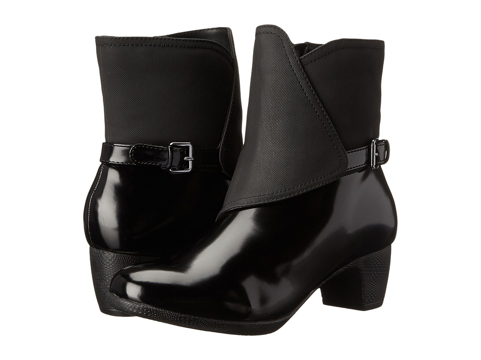 SoftWalk - Puddles (Black Box Leather Man Made) Women's Boots