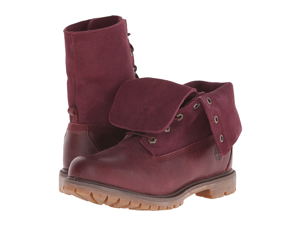 Timberland - Earthkeepers Authentics Suede Roll-Top (Port Woodlands) Women's Lace-up Boots