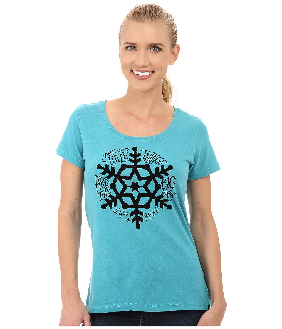 Life is good Creamy Scoop Tee (Teal Blue 2) Women