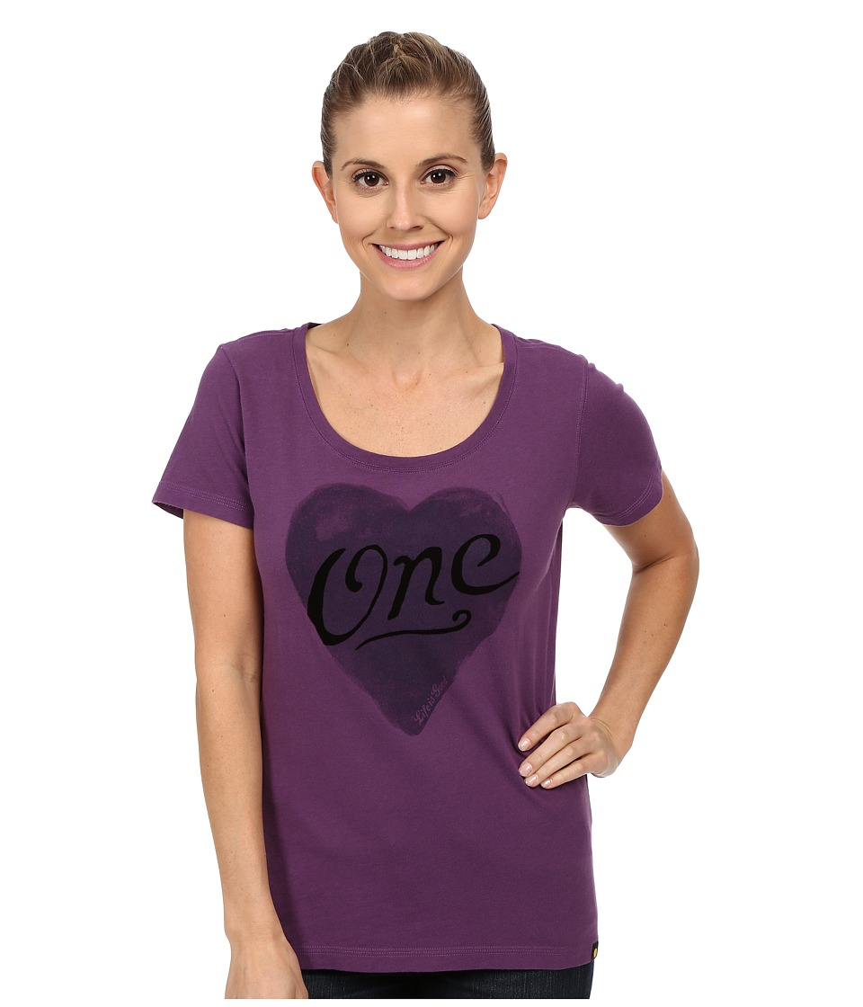 Life is good - Creamy Scoop Tee (Smoky Plum 2) Women's T Shirt