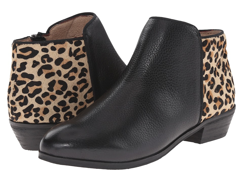 SoftWalk - Rocklin (Black/Tan Soft Tumbled Leather/Leopard) Women