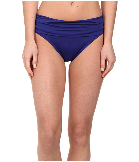 Jantzen - Solids Shirred Waisted Bottom (Ink Blue) Women's Swimwear
