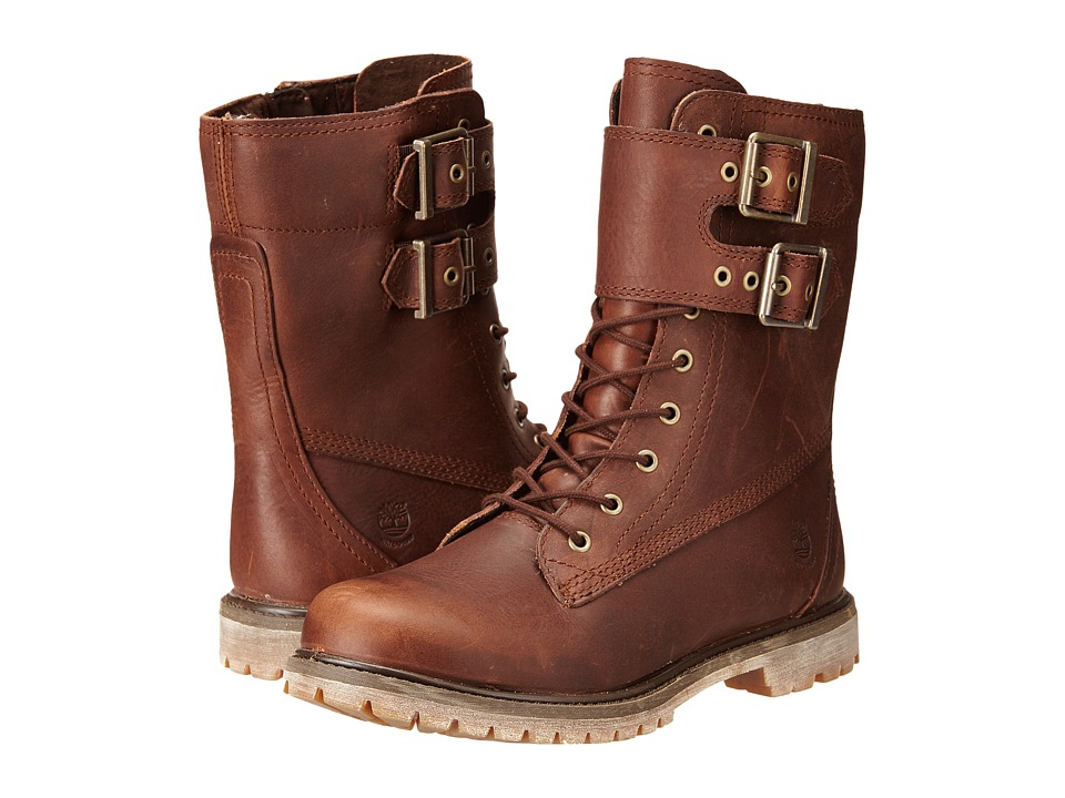 Timberland - Earthkeepers 6 Premium 8 Double Strap Boot (Dark Brown Forty Leather) Women