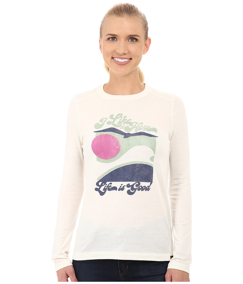 Life is good Cool L/S Tee (Simply Ivory) Women