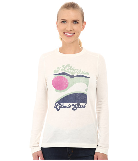 Life is good - Cool L/S Tee (Simply Ivory) Women