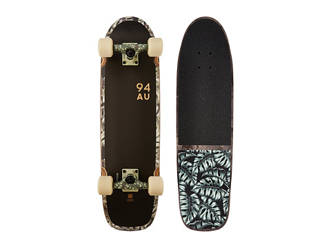 Globe - Fat Bruiser (Black/Monstera) Skateboards Sports Equipment