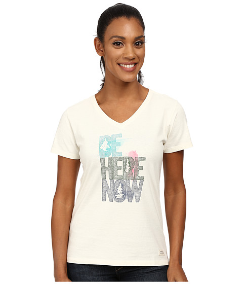 Life is good - Crusher Vee (Be Here Now Etch/Simply Ivory) Women's T Shirt
