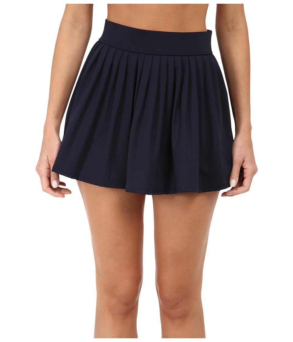 Kate Spade New York - Georgica Beach Pleated Cover Up Skirt (Rich Navy) Women's Swimwear