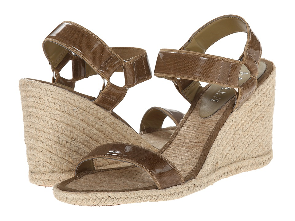 LAUREN by Ralph Lauren - Indigo (Coastal Sand Patent Elastic) Women's Wedge Shoes