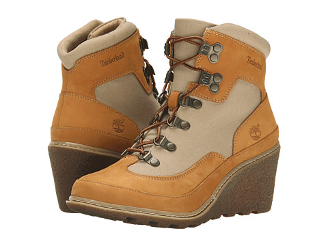 Timberland - Amston Hiker (Wheat Nubuck/Tan ReCanvas Fabric) Women