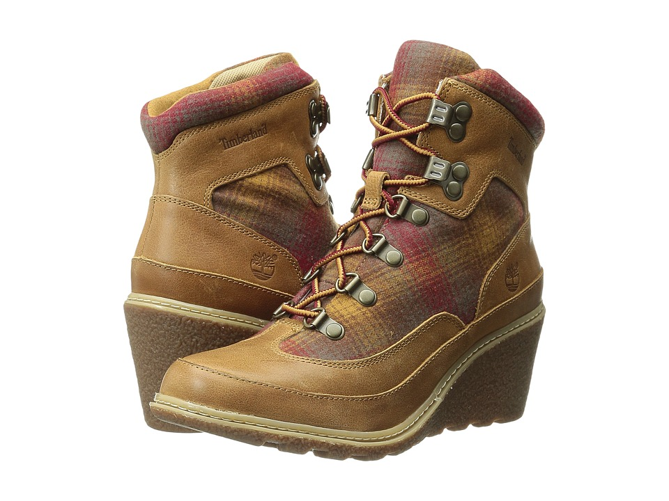 Timberland - Amston Hiker (Wheat Woodlands/Red Pendleton Wool) Women