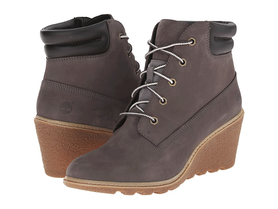 Timberland - Earthkeepers Amston 6 Boot (Dark Grey Nubuck) Women's Lace-up Boots