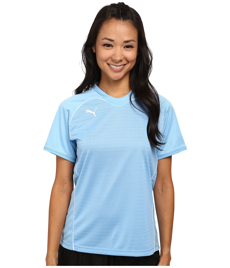 PUMA - Manchester Shirt (Team Pearl Blue/White) Women's Short Sleeve Pullover