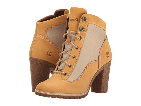 Timberland - Glancy Fabric and Leather Hiker (Wheat Nubuck/Tan ReCanvas ) Women
