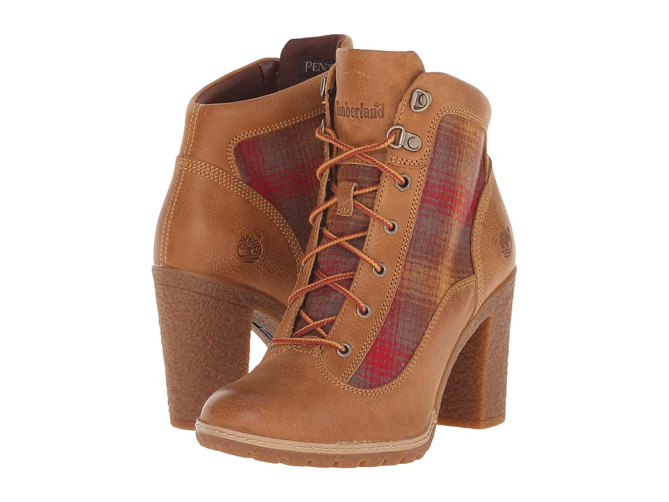 Timberland - Glancy Fabric and Leather Hiker (Wheat Woodlands/Red Pendleton Wool) Women