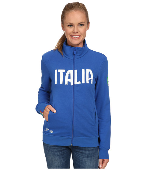PUMA - FIGC Italia Track Jacket (Team Power Blue) Women's Long Sleeve Pullover