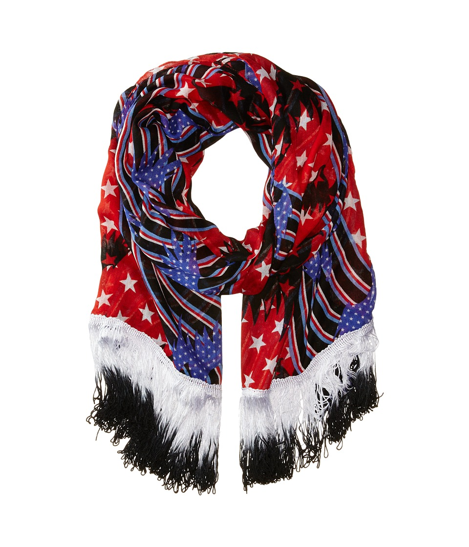 Steve Madden - Patriot Game Day Wrap (Black) Scarves