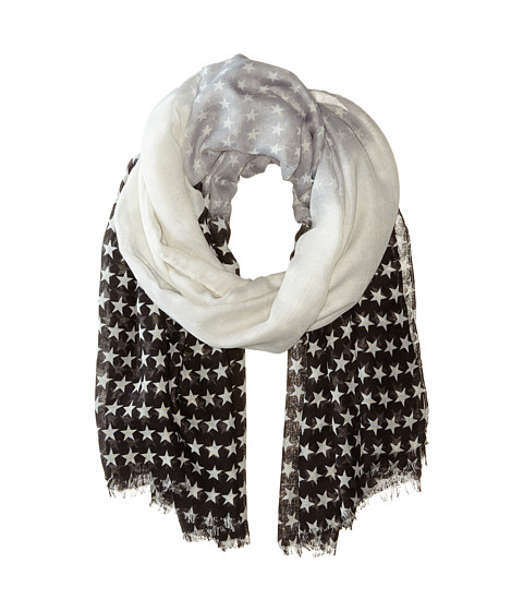 Steve Madden - Ombre Stars Day Wrap (Neutral) Scarves