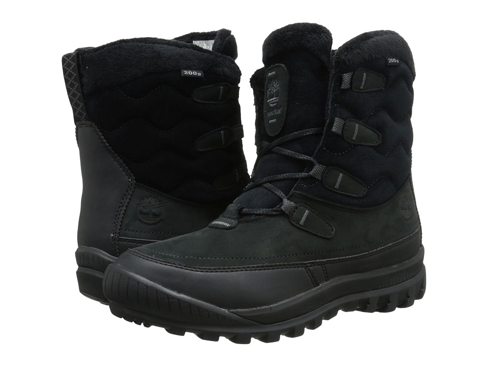 Timberland - Woodhaven Mid Waterproof Insulated (Black) Women's Boots