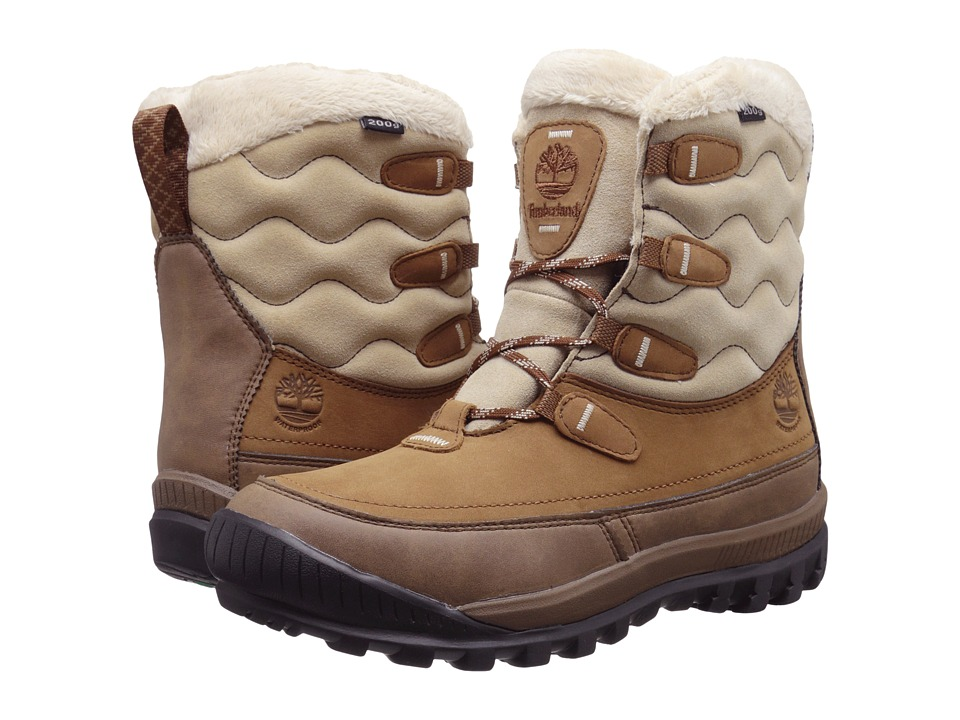 Timberland - Woodhaven Mid Waterproof Insulated (Brown) Women's Boots