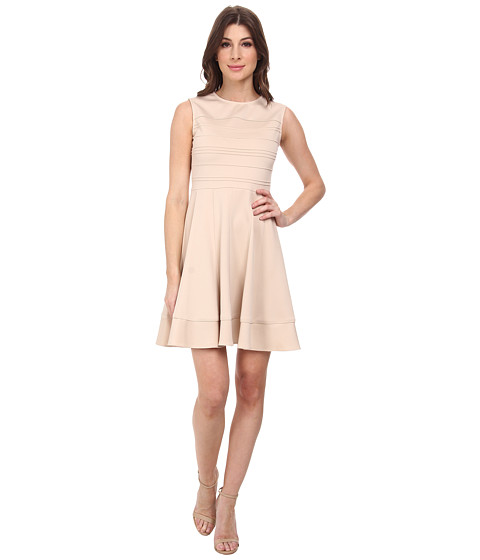 julia jordan - Techno Fit Flare Dress (Sand) Women's Dress