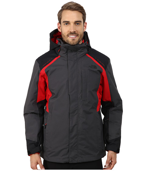 The North Face - Vortex Triclimate Jacket (Asphalt Grey/TNF Black/TNF Red) Men