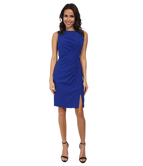 Calvin Klein - Ruched Front Sheath Dress (Atlantis) Women's Dress