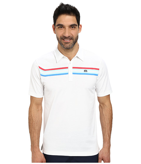 TravisMathew - Browning (White) Men's Short Sleeve Knit