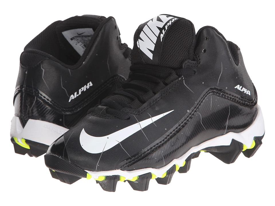 Nike Kids Alpha Shark 2 BG Wide Football (Toddler/Little Kid/Big Kid) (Black/Anthracite/White) Kids Shoes