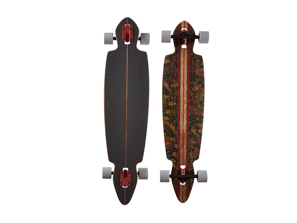 Globe - Pinner Drop Through (Brown/Leaves) Skateboards Sports Equipment