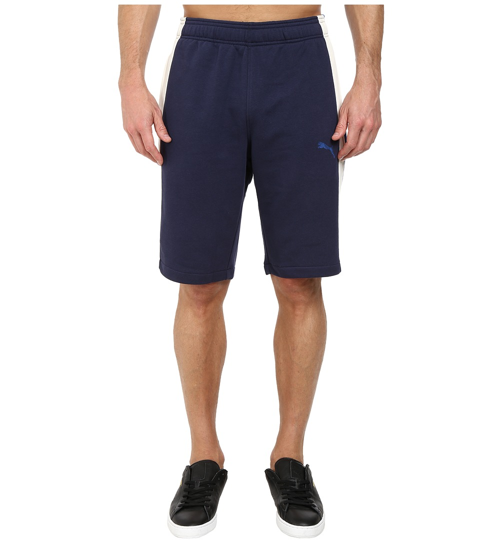 PUMA - Lineman Shorts (Peacoat/Marshmallow) Men's Shorts