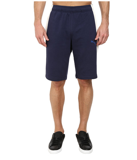 PUMA - Lineman Shorts (Peacoat/Marshmallow) Men