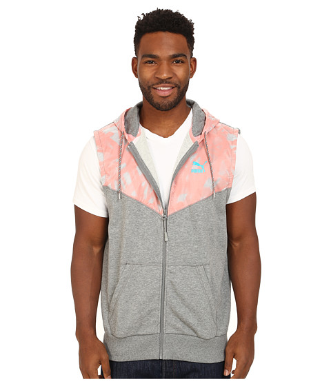 PUMA - Sleeveless Summer Sweat Top (Medium Grey Heather) Men