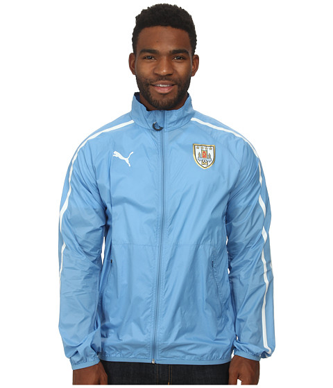 PUMA - Uruguay Walkout Jacket (Silver Lake Blue/White) Men's Coat