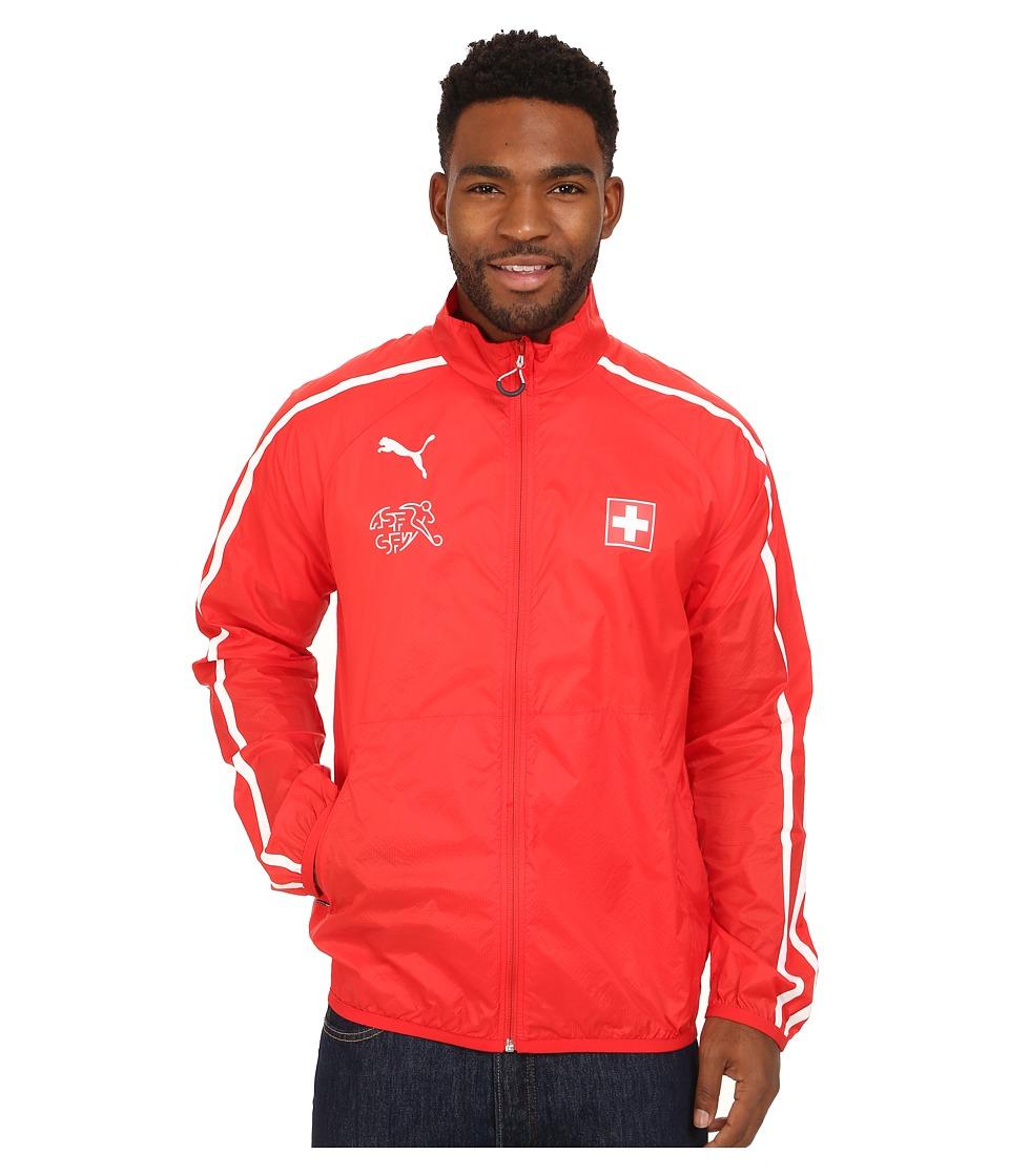 PUMA - Suisse Walkout Jacket (Puma Red/White) Men