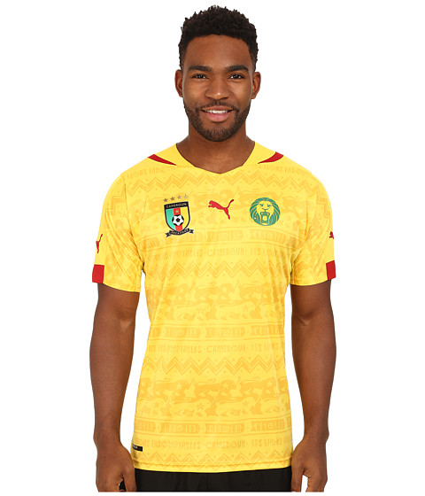 PUMA - Cameroon Away Shirt Replica (Dandelion) Men's Short Sleeve Pullover