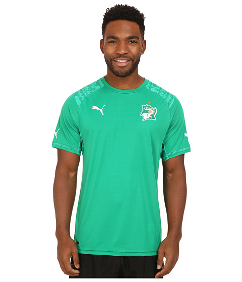 PUMA - Ivory Coast Away Shirt Replica (Pepper Green) Men's Short Sleeve Pullover