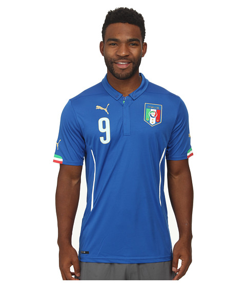 PUMA - FIGC Balotelli Shirt Replica (Team Power Blue) Men's Short Sleeve Pullover